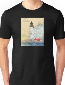 Isle of Shoals Lighthouse NH Chart Map Cathy Peek Unisex T-Shirt