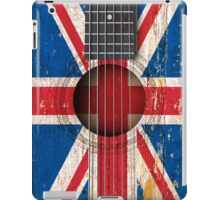 Old Vintage Acoustic Guitar with British Flag iPad Case/Skin