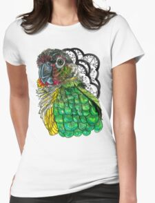 Green Cheeked Conure Womens Fitted T-Shirt