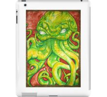 Cthulhu Painting on Wood iPad Case/Skin