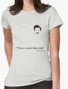 I know more than you. Womens Fitted T-Shirt