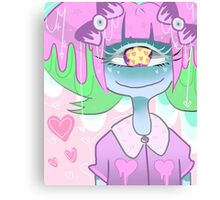 Pastel Goth Cyclops Mia Canvas Print