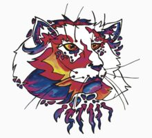 ultra violet neon cat by HiddenStash