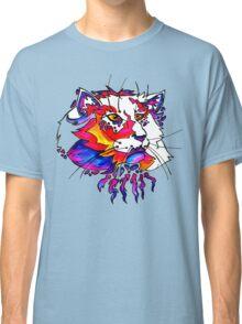 ultra violet neon cat Classic T-Shirt