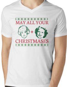 Golden Christmas Mens V-Neck T-Shirt