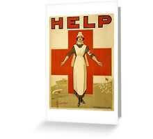 Vintage poster - Red Cross Greeting Card