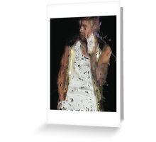 Painted Justin Bieber Greeting Card