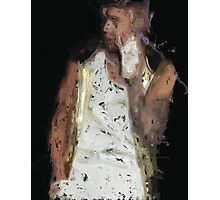 Painted Justin Bieber Photographic Print