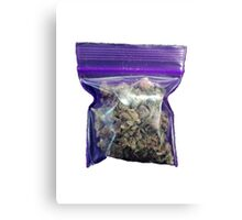 gram of cannabis Canvas Print