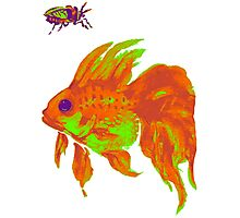 warm electric goldfish Photographic Print