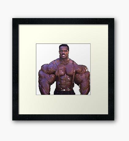 Muscular Black Man Framed Print