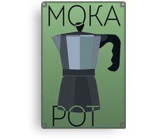 Art Deco Moka Pot Poster Canvas Print
