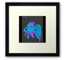 cool electric goldfish & bug Framed Print