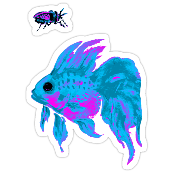 cool electric goldfish & bug by Ashley Peppenger