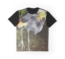 African Grey-Crowned Crane Graphic T-Shirt