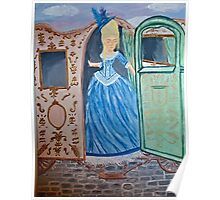 Marie Antoinette Stepping Out of Carriage  Poster