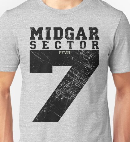 Midgar Sector 7 - Black Edition Unisex T-Shirt