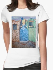 Marie Antoinette Stepping Out of Carriage  Womens Fitted T-Shirt