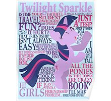 The Many Words of Twilight Sparkle Poster