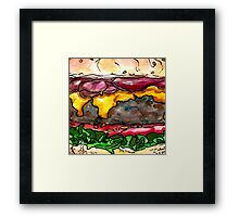 bacon cheeseburger Framed Print