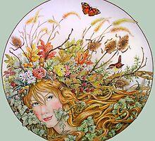 Autumn Goddess by BDMillustration