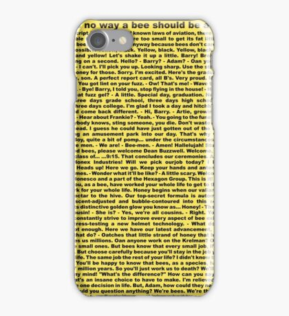bee movie script iPhone Case/Skin
