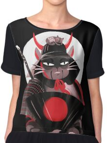 Samurai Cat Chiffon Top