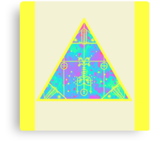 cool electric triangular space Canvas Print