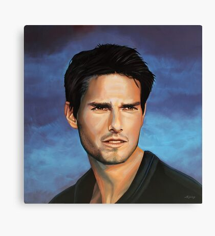 Tom Cruise Painting Canvas Print