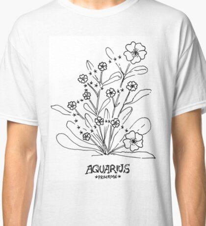 Floral Constellation - Aquarius Classic T-Shirt
