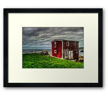 Building on the Sea's Edge Framed Print