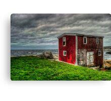 Building on the Sea's Edge Canvas Print