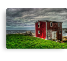 Building on the Sea's Edge Canvas Print