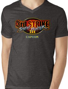 Street Fighter III: 3rd Strike (Capcom) logo Mens V-Neck T-Shirt