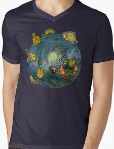 FINVASION Mens V-Neck T-Shirt