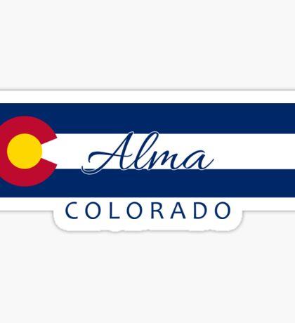 Alma Colorado flag stripe Sticker