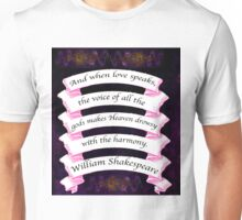 Love's Labour's Lost Shakespeare Inspirational LOVE Quote  Unisex T-Shirt
