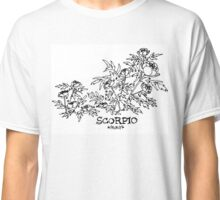 Floral Constellation - Scorpio Classic T-Shirt