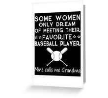 Baseball Grandma Greeting Card