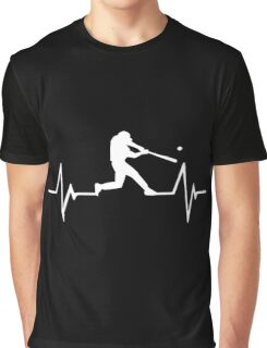 Baseball Heartbeat Love Graphic T-Shirt