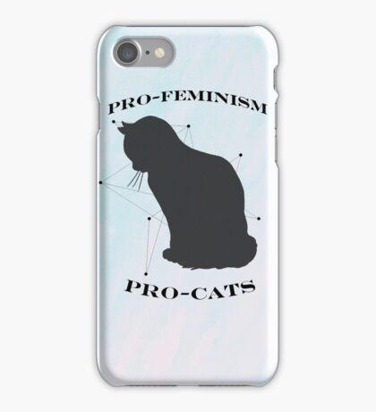 Pro-feminism, pro-cats iPhone Case/Skin