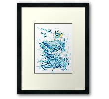 Vaporeon's Whirlpool Framed Print