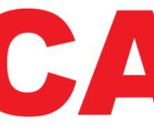 California CA  Euro Oval RED Sticker