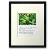 Herbal Calendar Teas- Cover Framed Print