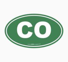 Colorado CO Euro Oval GREEN by USAswagg