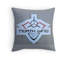North Wind Aviation Logo Throw Pillow