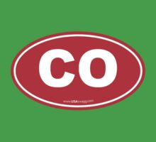Colorado CO Euro Oval RED Kids Clothes