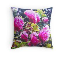 Montsalvat Roses Throw Pillow