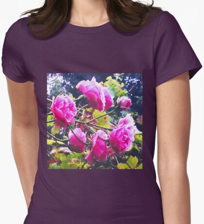 Montsalvat Roses Womens Fitted T-Shirt
