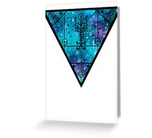 inverted space triangle Greeting Card